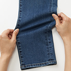 Detail of High Rise Cigarette Jeans
