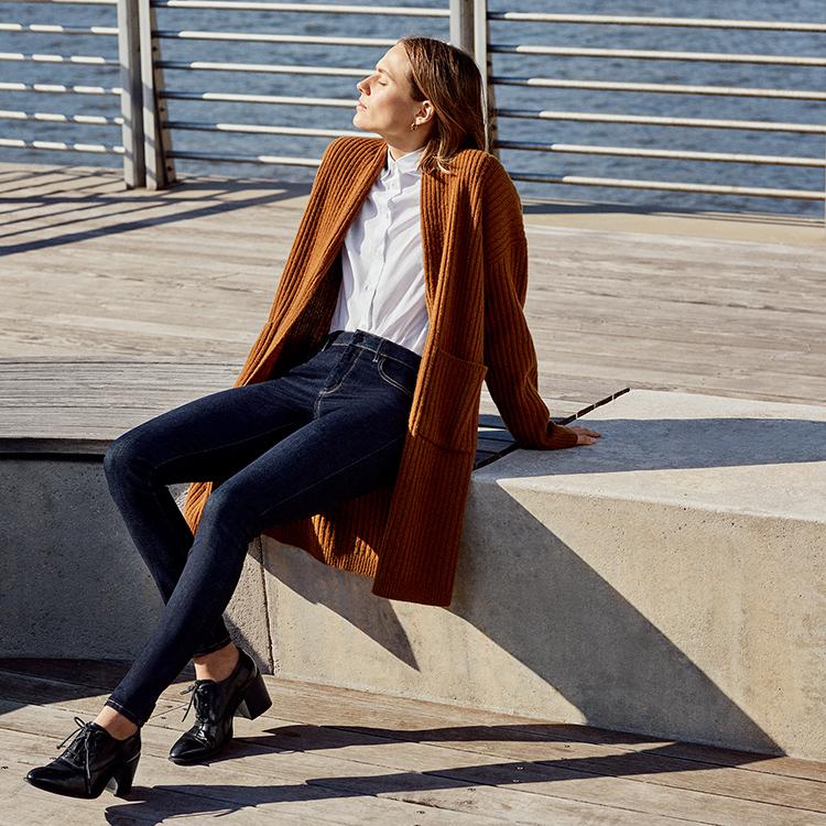 Woman wearing Ultra Stretch Jeans
